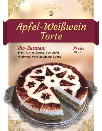 Apfel-Weisswein-Torte