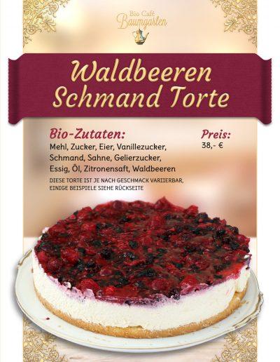 Waldbeere-Schmand-Torte